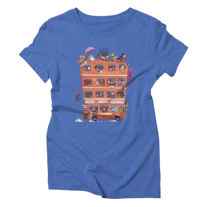 CON KIDS Women's Triblend T-Shirt by Patrick Ballesteros
