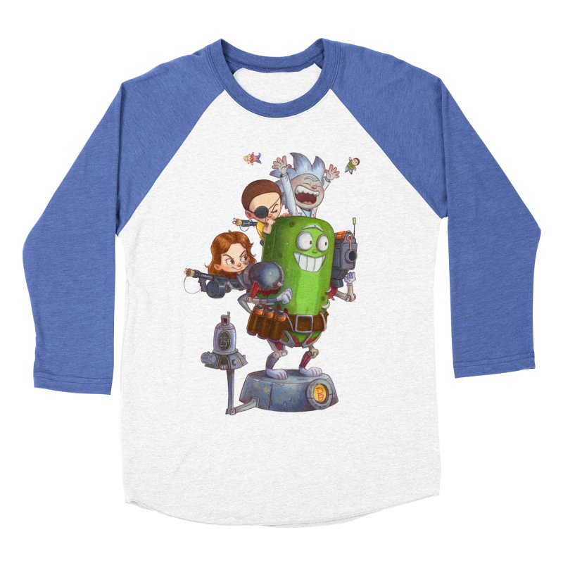 In A Pickle Men's Baseball Triblend Longsleeve T-Shirt by Patrick Ballesteros