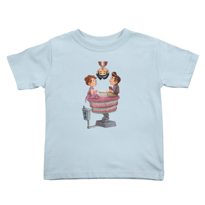 SIX TEENIE CANDLES Kids Toddler T-Shirt by Patrick Ballesteros