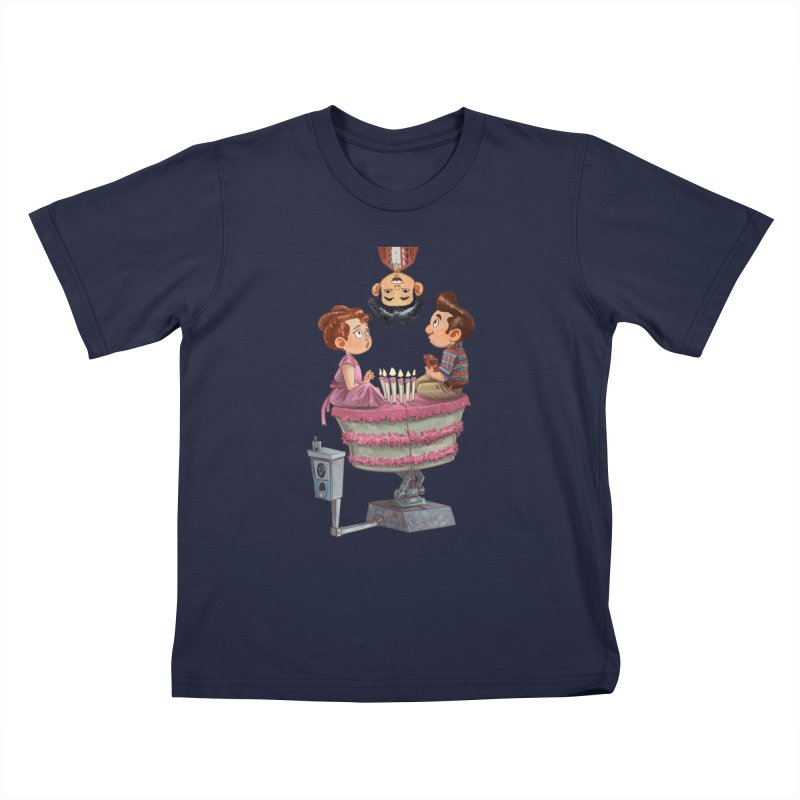 SIX TEENIE CANDLES Kids T-Shirt by Patrick Ballesteros