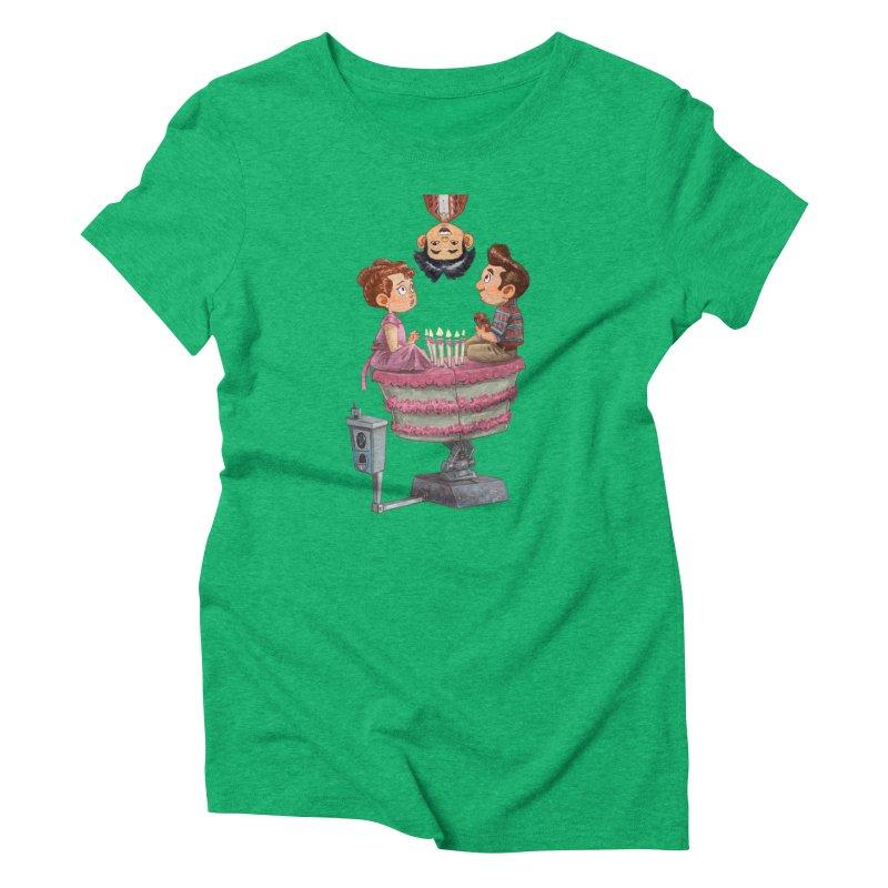 SIX TEENIE CANDLES Women's Triblend T-Shirt by Patrick Ballesteros