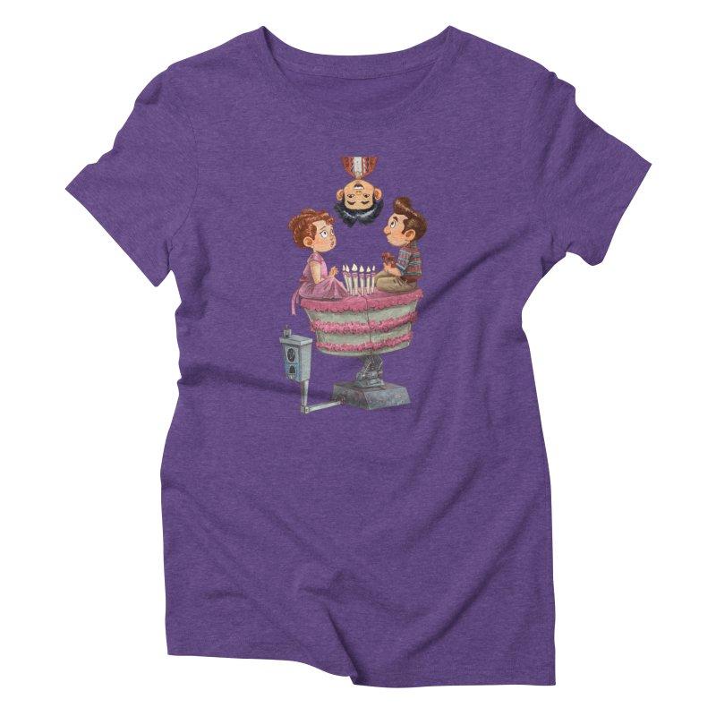 SIX TEENIE CANDLES Women's Triblend T-Shirt by Patrick Ballesteros Art Shop