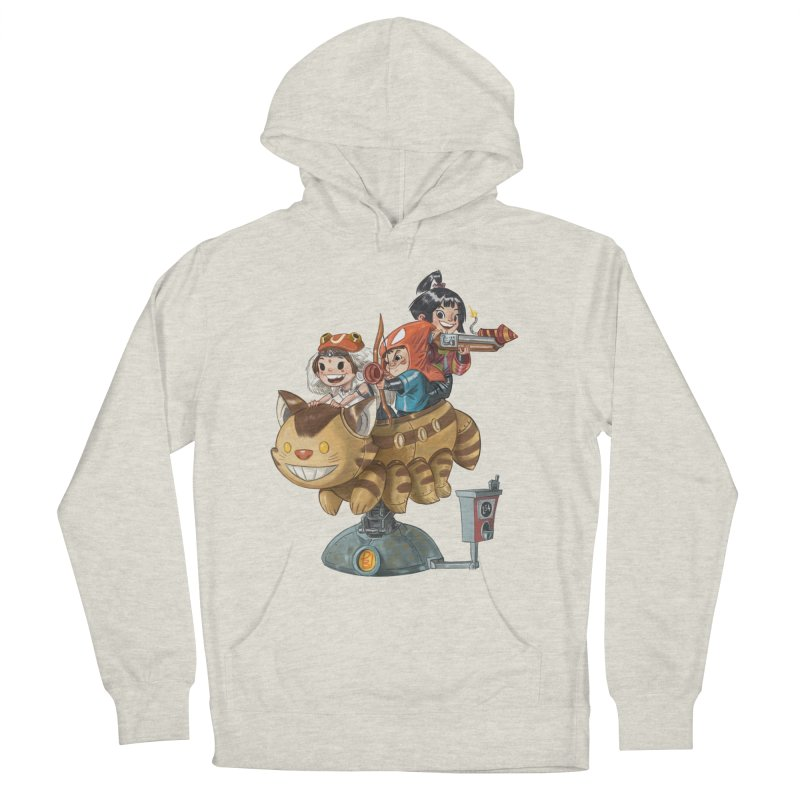 THREE ANIMEGOS Women's French Terry Pullover Hoody by Patrick Ballesteros Art Shop