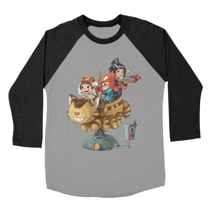 THREE ANIMEGOS Women's Baseball Triblend T-Shirt by Patrick Ballesteros Art Shop