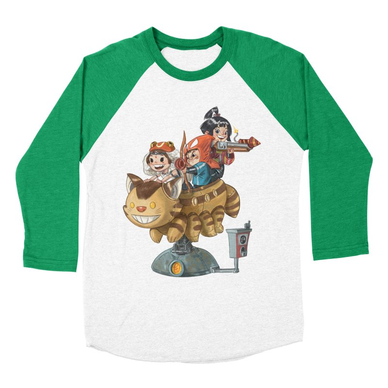 THREE ANIMEGOS Men's Baseball Triblend Longsleeve T-Shirt by Patrick Ballesteros Art Shop