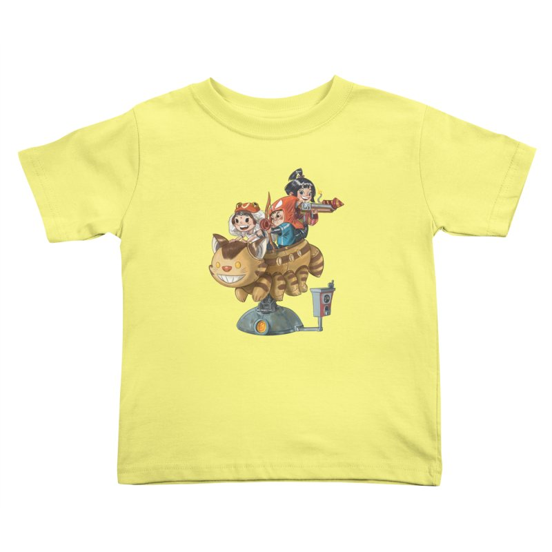 THREE ANIMEGOS Kids Toddler T-Shirt by Patrick Ballesteros Art Shop