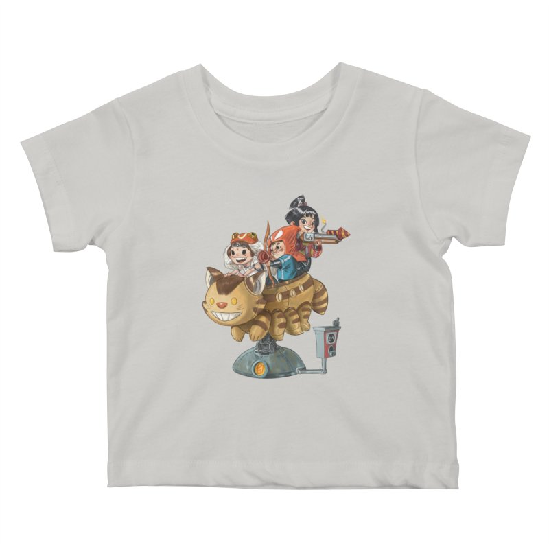 THREE ANIMEGOS Kids Baby T-Shirt by Patrick Ballesteros Art Shop