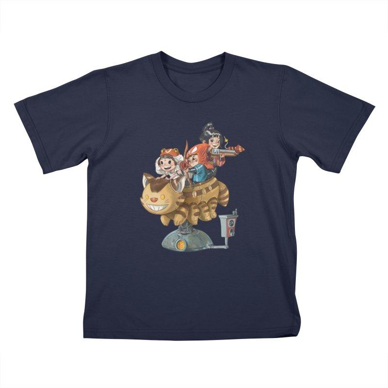 THREE ANIMEGOS Kids T-Shirt by Patrick Ballesteros Art Shop