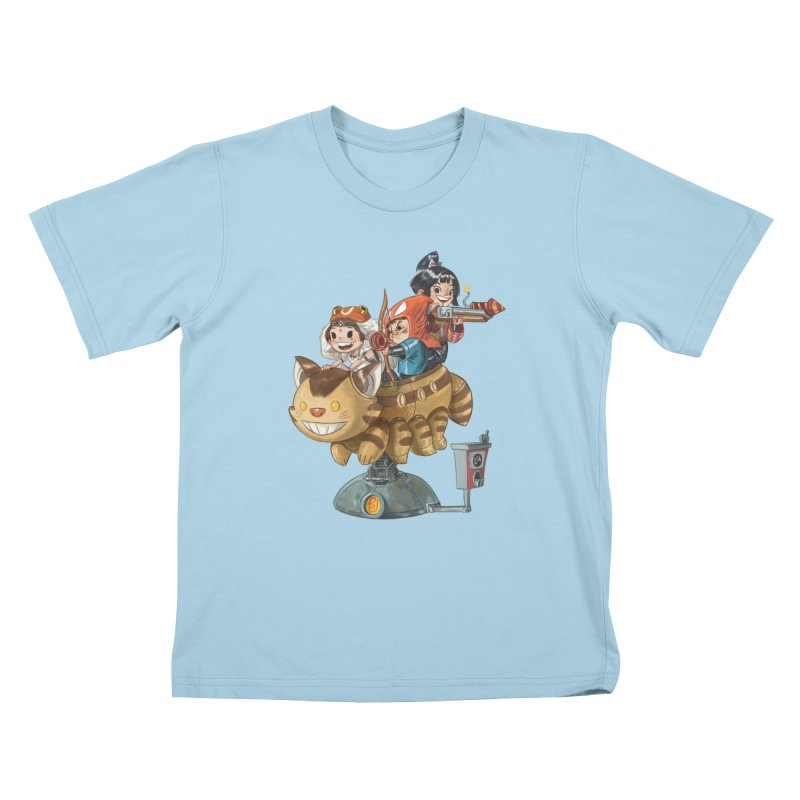 THREE ANIMEGOS Kids T-Shirt by Patrick Ballesteros Art Shop