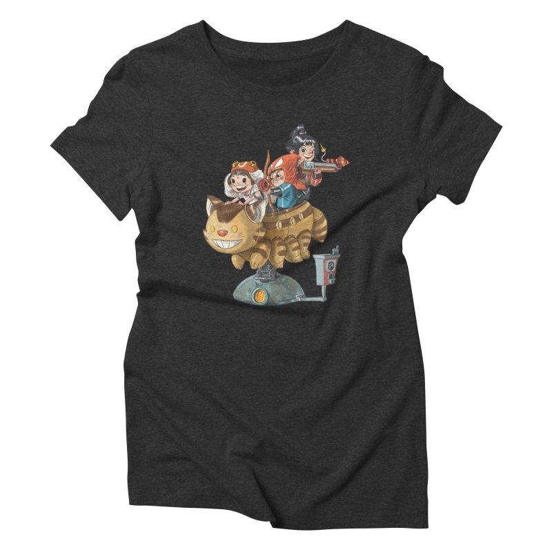 THREE ANIMEGOS Women's Triblend T-Shirt by Patrick Ballesteros Art Shop
