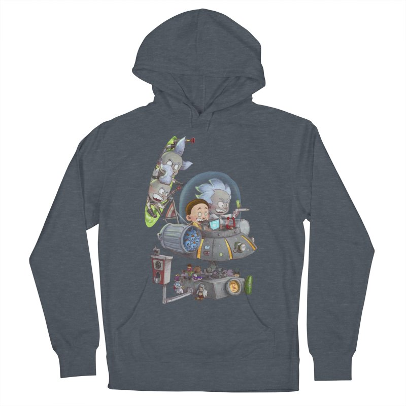 MORTY-FIED Men's French Terry Pullover Hoody by Patrick Ballesteros