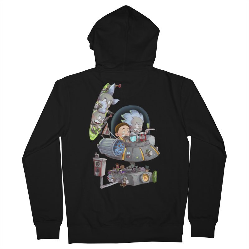 MORTY-FIED Men's Zip-Up Hoody by Patrick Ballesteros Art Shop