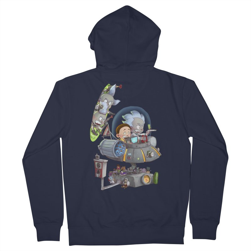 MORTY-FIED Men's French Terry Zip-Up Hoody by Patrick Ballesteros Art Shop