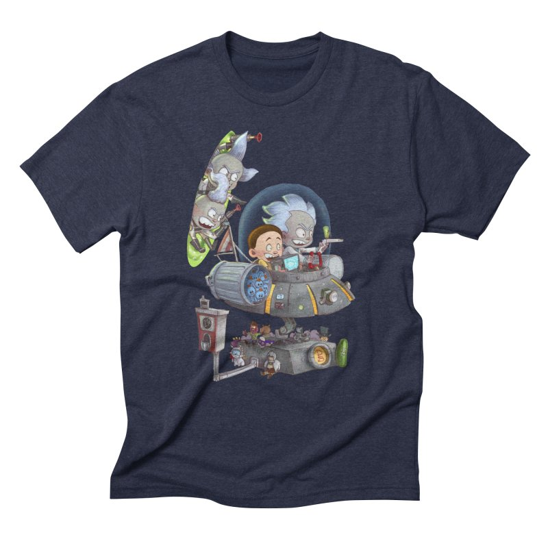 MORTY-FIED Men's Triblend T-Shirt by Patrick Ballesteros