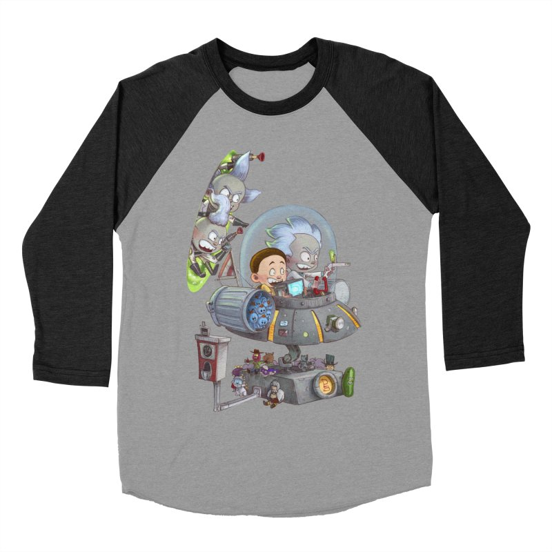 MORTY-FIED Men's Baseball Triblend Longsleeve T-Shirt by Patrick Ballesteros