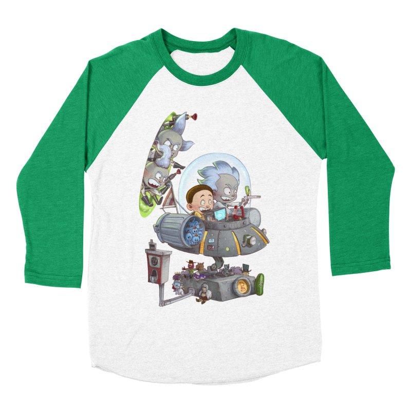 MORTY-FIED Men's Baseball Triblend T-Shirt by Patrick Ballesteros Art Shop