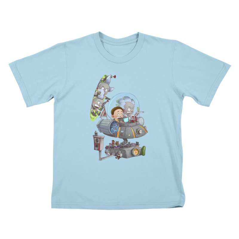 MORTY-FIED Kids T-Shirt by Patrick Ballesteros