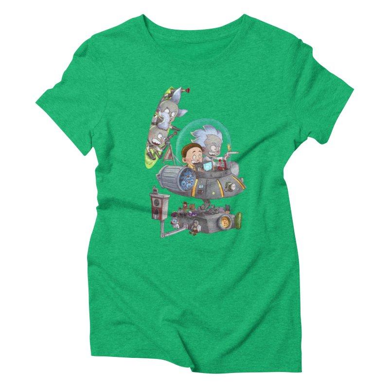 MORTY-FIED Women's Triblend T-Shirt by Patrick Ballesteros Art Shop