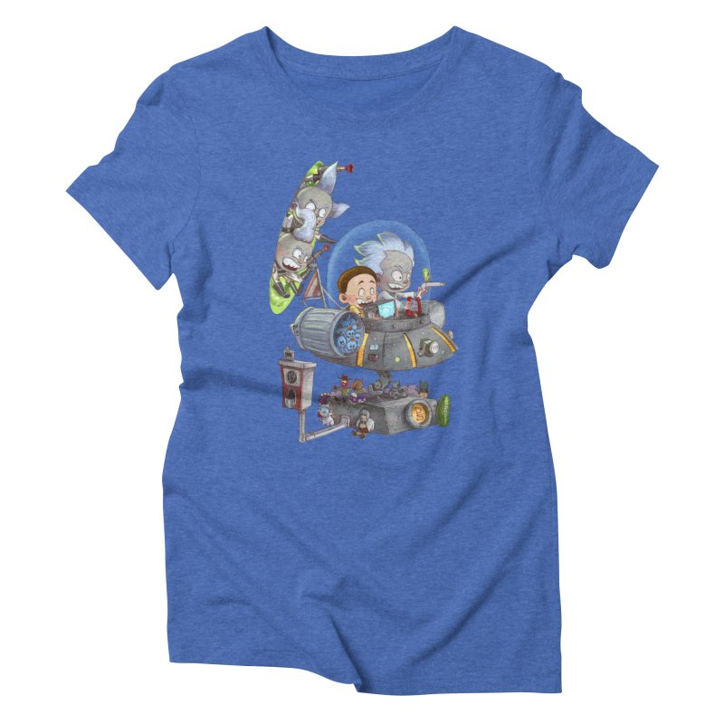 MORTY-FIED Women's Triblend T-Shirt by Patrick Ballesteros