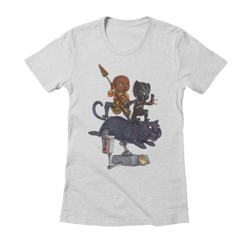 Sneak Attack Women's Fitted T-Shirt by Patrick Ballesteros