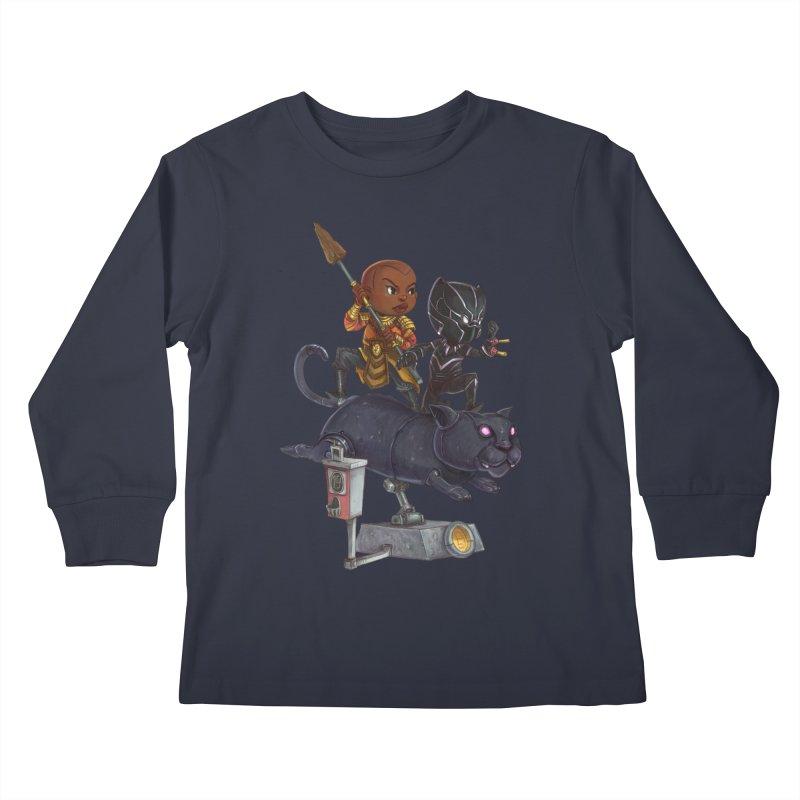Sneak Attack Kids Longsleeve T-Shirt by Patrick Ballesteros