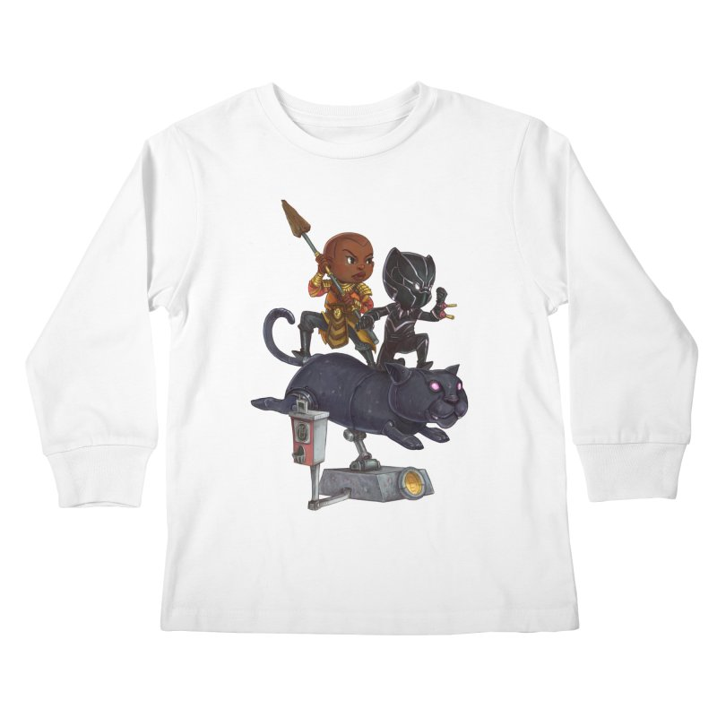 Sneak Attack Kids Longsleeve T-Shirt by Patrick Ballesteros