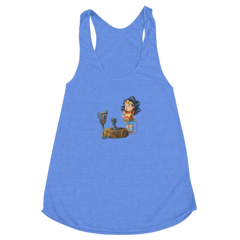 In Plane Sight Women's Racerback Triblend Tank by Patrick Ballesteros Art Shop