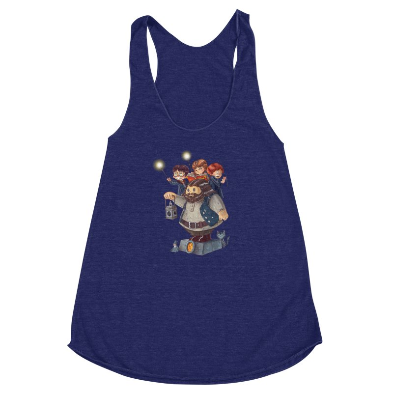 WHO SAID THAT Women's Racerback Triblend Tank by Patrick Ballesteros Art Shop