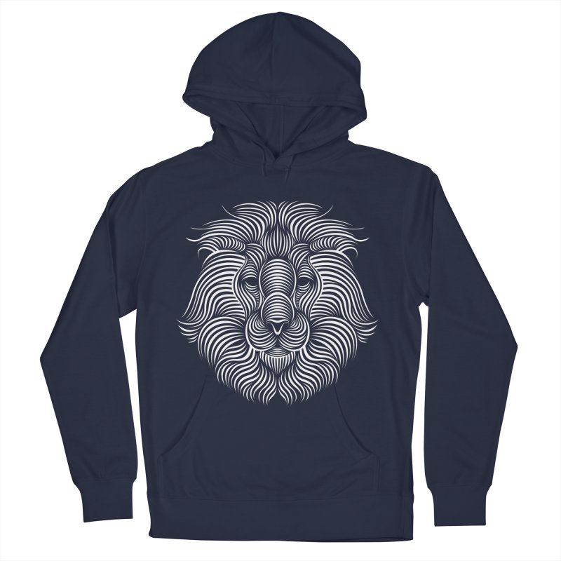 Lion Men's Pullover Hoody by Patrick seymour