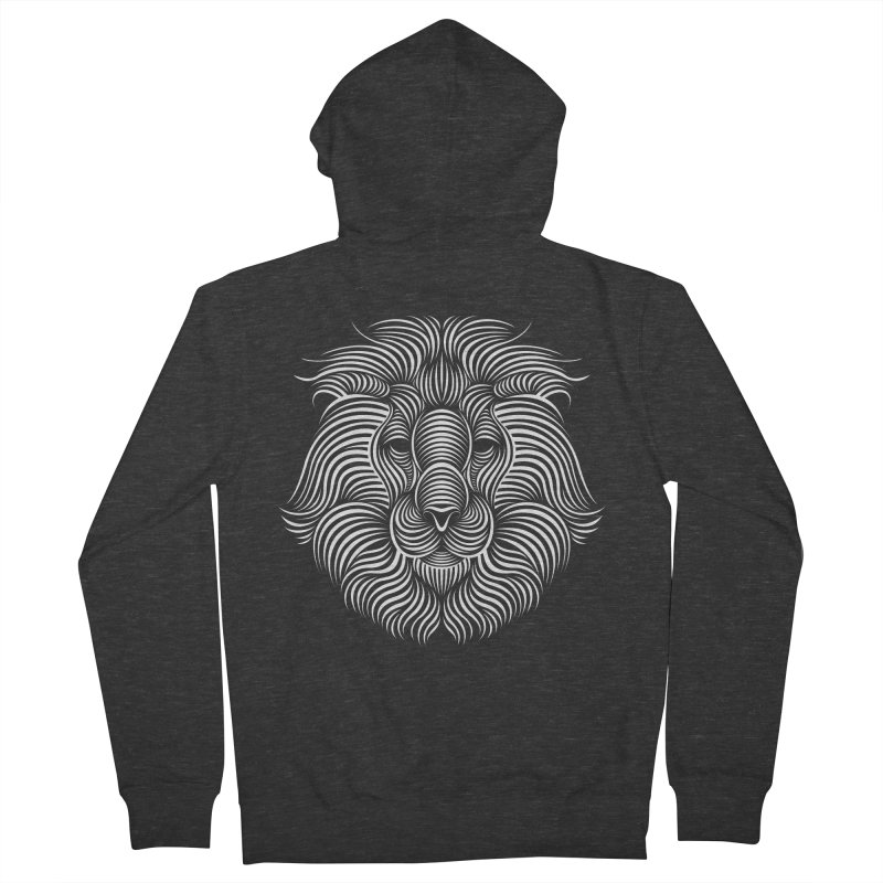 Lion Men's Zip-Up Hoody by Patrick seymour