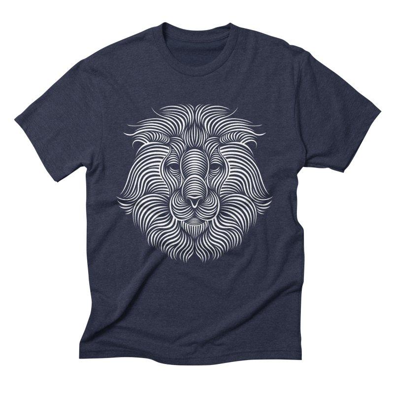 Lion Men's Triblend T-Shirt by Patrick seymour