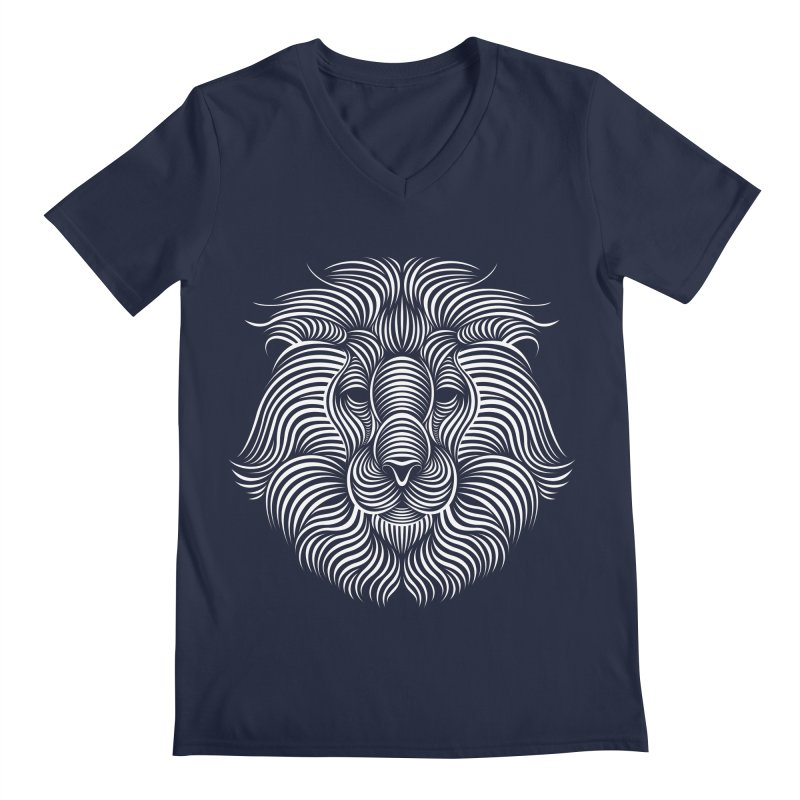 Lion Men's V-Neck by Patrick seymour