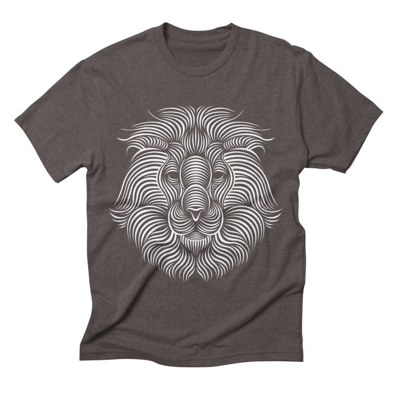 Lion Men's Triblend T-shirt by Patrick seymour