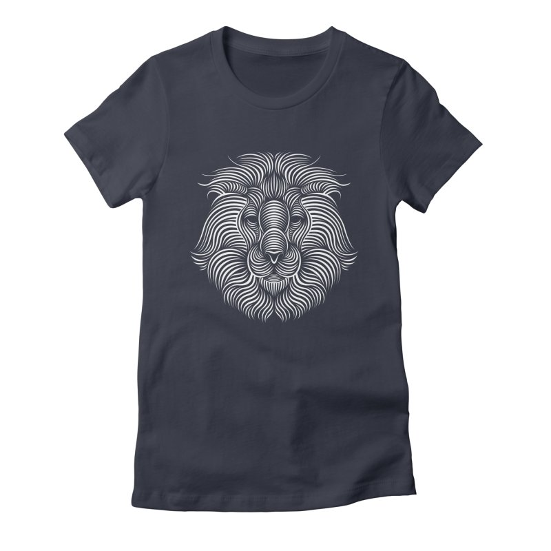 Lion Women's Fitted T-Shirt by Patrick seymour