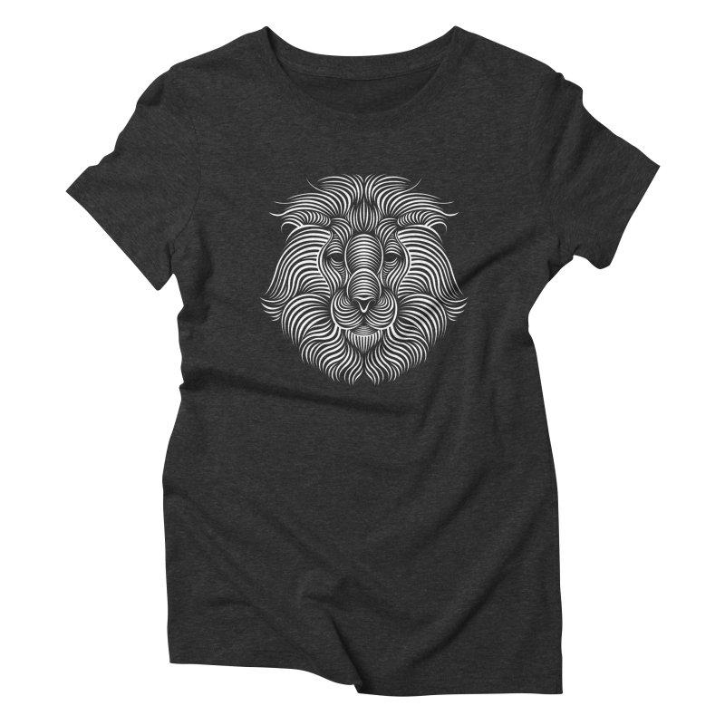 Lion Women's Triblend T-shirt by Patrick seymour