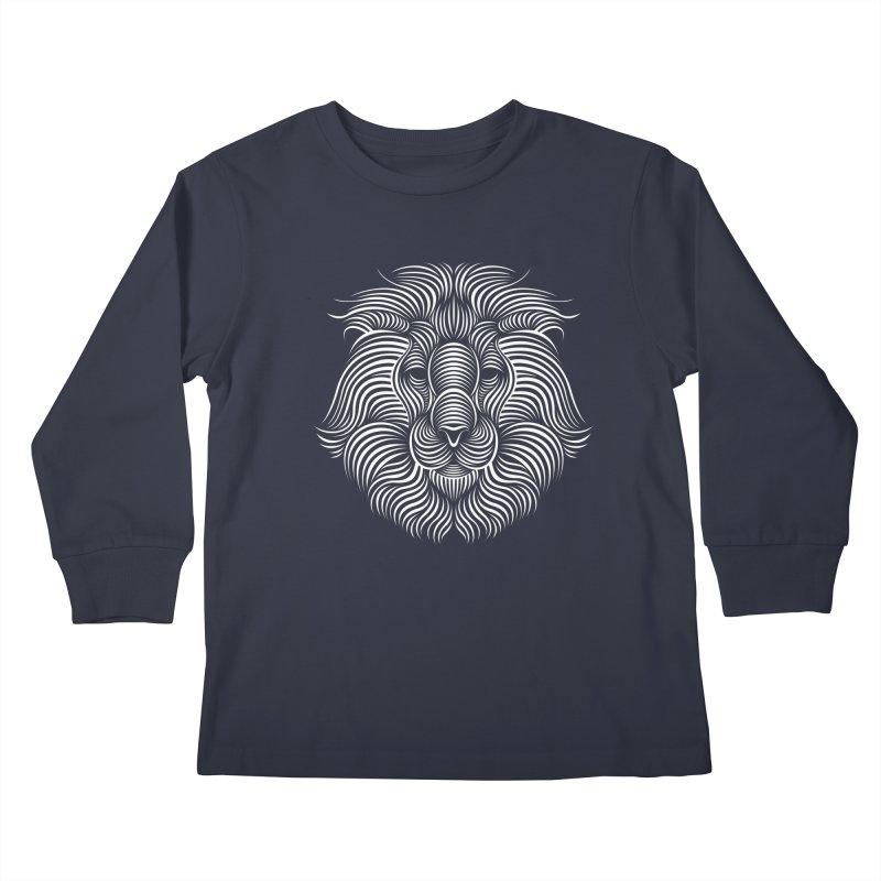 Lion Kids Longsleeve T-Shirt by Patrick seymour