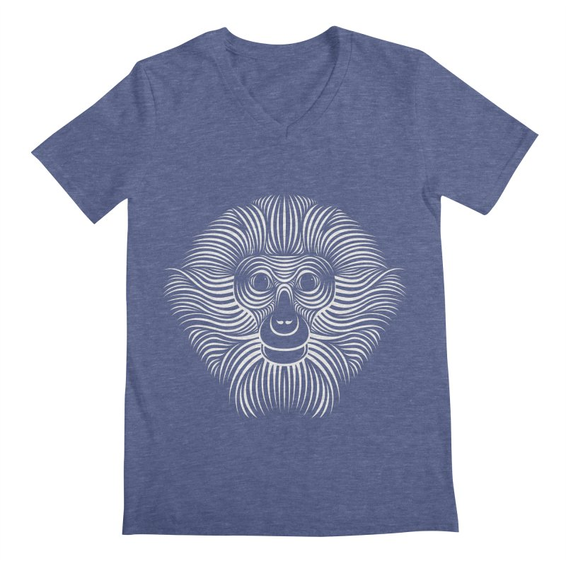 Monkey Men's V-Neck by Patrick seymour