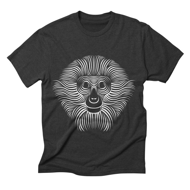 Monkey Men's Triblend T-shirt by Patrick seymour