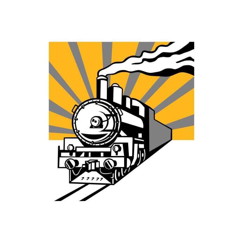 Steam Train Locomotive Sunburst Retro Kids Toddler Pullover Hoody by patrimonio's Artist Shop
