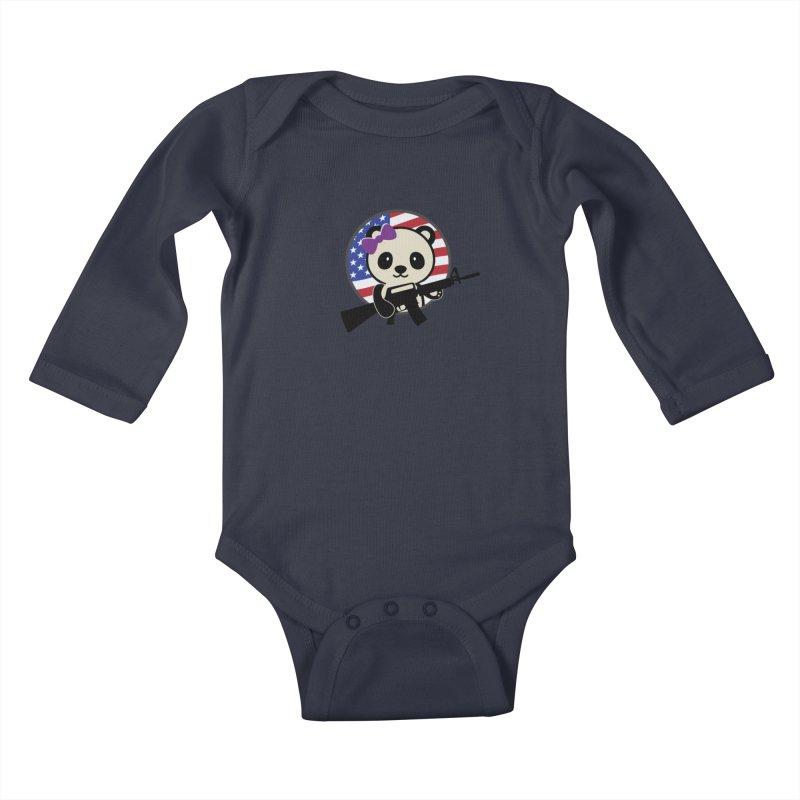 Patriot Panda Kids Baby Longsleeve Bodysuit by patriotpanda's Artist Shop
