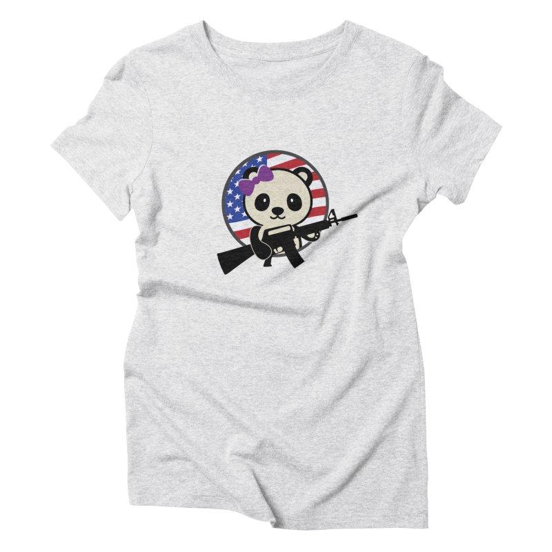 Patriot Panda Women's T-Shirt by patriotpanda's Artist Shop