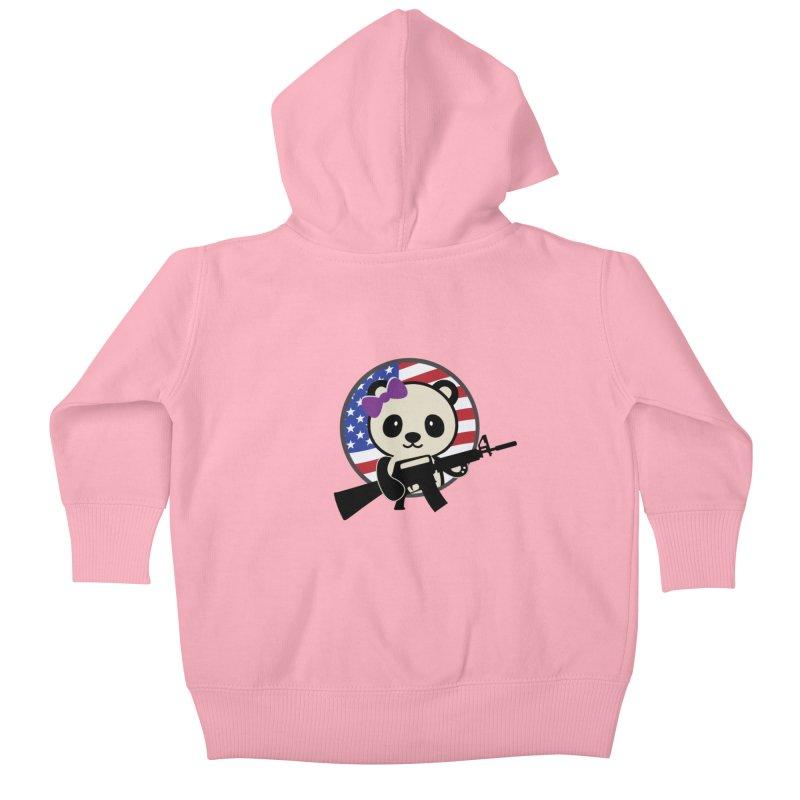 Patriot Panda Kids Baby Zip-Up Hoody by patriotpanda's Artist Shop