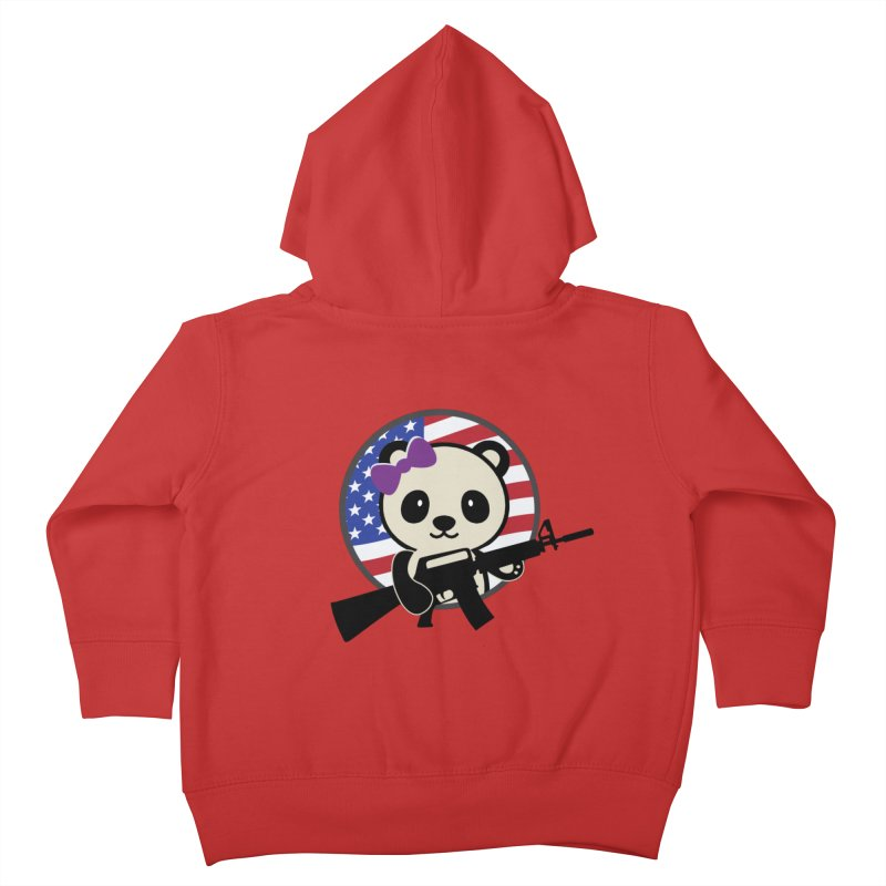 Patriot Panda Kids Toddler Zip-Up Hoody by patriotpanda's Artist Shop