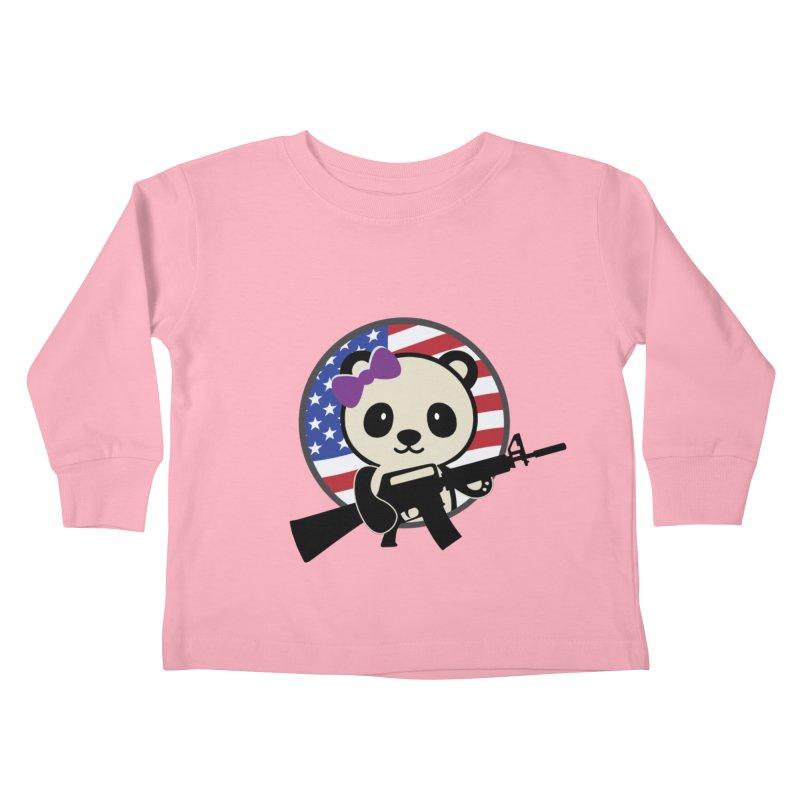 Patriot Panda Kids Toddler Longsleeve T-Shirt by patriotpanda's Artist Shop