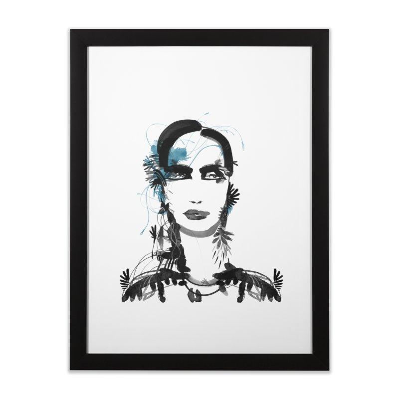 Portrait #001 Home Framed Fine Art Print by Pattern By Design