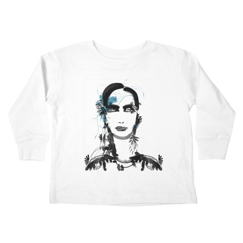 Portrait #001 Kids Toddler Longsleeve T-Shirt by Pattern By Design