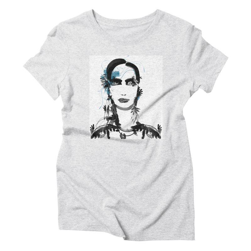 Portrait #001 Women's Triblend T-shirt by Pattern By Design