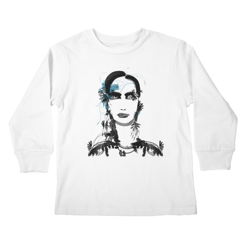 Portrait #001 Kids Longsleeve T-Shirt by Pattern By Design