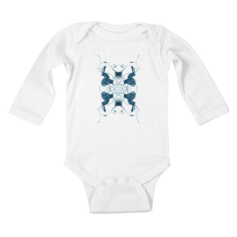 Flip #001 Kids Baby Longsleeve Bodysuit by Pattern By Design
