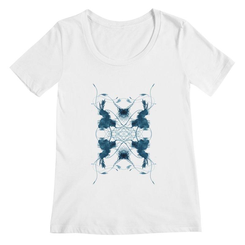 Flip #001 Women's Scoopneck by Pattern By Design